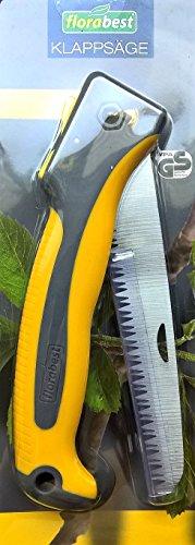 FLORABEST® Klappsäge - Hochwertiges Sägeblatt aus Karbonstahl, 18 cm - Geprüfte Sicherheit