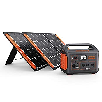Jackery Solar Generator 1000 Explorer 1000 and 2X SolarSaga 100W with 3x110V/1000W AC Outlets Solar Mobile Lithium Battery Pack for Outdoor RV/Van Camping Emergency