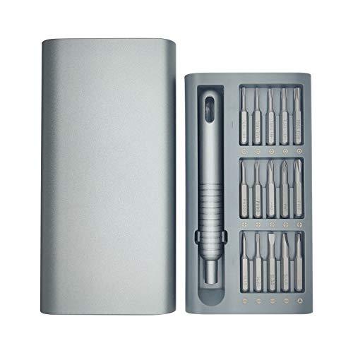 SOOWAY Juego de destornilladores 31 en 1 Precisión Magnético Kit de herramientas de reparación Para teléfono inteligente PC Reloj Cámara Juguetes electrónicos Bricolaje Desmontaje Herramienta