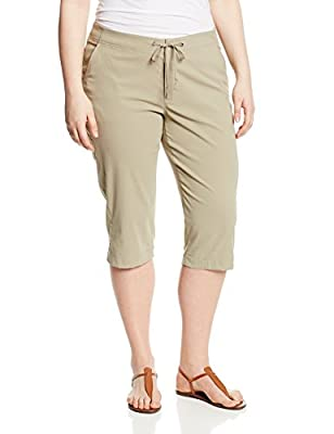 Columbia Women's Anytime Outdoor Capri, Water and Stain Repellent, Tusk, 6W x 18L