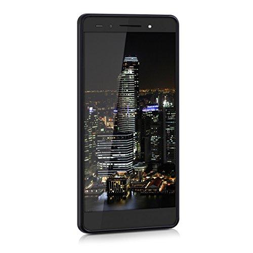 kwmobile Huawei Honor 7 / Honor 7 Premium Hülle - Handyhülle für Huawei Honor 7 / Honor 7 Premium - Handy Case in Schwarz matt - 2
