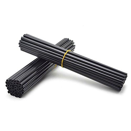 72tlg Spoke Tubes für F650-1200GS G650X SERTAO XR CRF CRM YAMAHA TTR WR XT TW DT PW RT DRZ RMX XCF XCRW EXC SXF SXR XCW EXCR (schwarz)