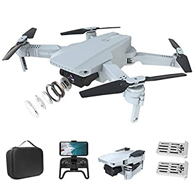 Eilsorrn Mini Drone Foldable RC Drone with 4K HD Camera for Beginners FPV RC Quadcopter with 3D Flips,Trajectory Flight,Optical Flow Positioning,Gesture Control,Headless Mode,G-Sensor,2 Batteries Pack from Eilsorrn