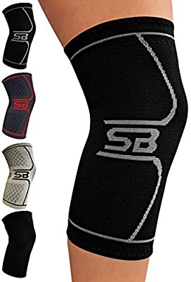 SB SOX Compression Knee Brace for Knee Pain - Braces and Supports Knee for Pain Relief, Meniscus Tear, Arthritis, Injury, Running, Joint Pain, Support - BEST Knee Sleeve