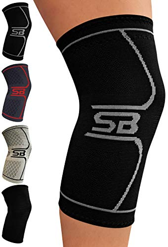 SB SOX Compression Knee Brace - Great Support That Stays in Place - Perfect for Recovery, Crossfit,...