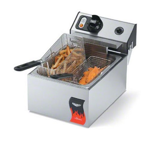 Vollrath (40705) 10 Lb. Standard-Duty 120V Electric Countertop Fryer - Cayenne Series