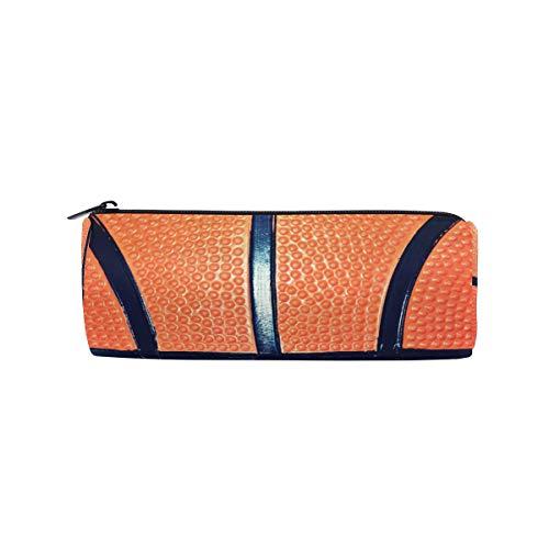 ALARGE Estuche con cremallera para lápices y pelotas de baloncesto para deporte, bolsa de maquillaje, bolsa de escuela, niños y niñas