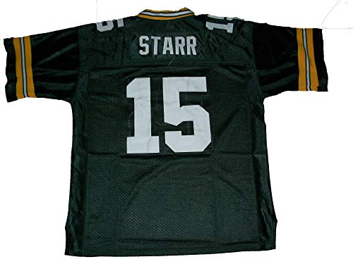 Unsigned Bart Starr #15 Custom Stitched Green Football Jersey Various Sizes New No Brands/Logos (L)