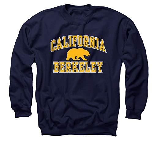 Campus Colors NCAA Adult Arch & Logo Gameday Crewneck Sweatshirt (Cal Golden Bears - Navy, Large)