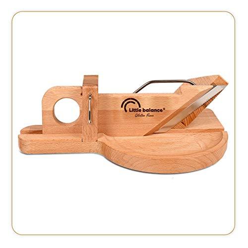 LITTLE BALANCE 8422 La Conviviale - Guillotina para embutidos, fabricación 100 % francesa, hoja de acero inoxidable Esprit de Thiers, madera de haya