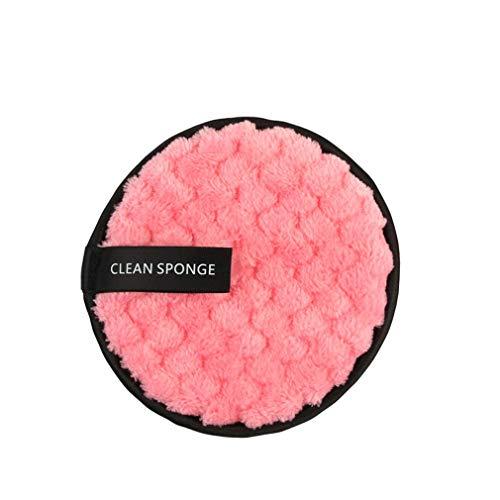 JIE Toalla de Limpieza Facial de Microfibra Limpiador Facial Maquillaje de Limpieza Reutilizable Rosa