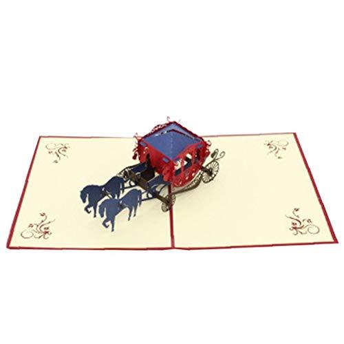 3d Pop Up Carta Per Stampanti Laser Cut D'auguri Creativa Mano Lnvitations Di Nozze Di Amore Carriage Cartoline Wishes Gifts