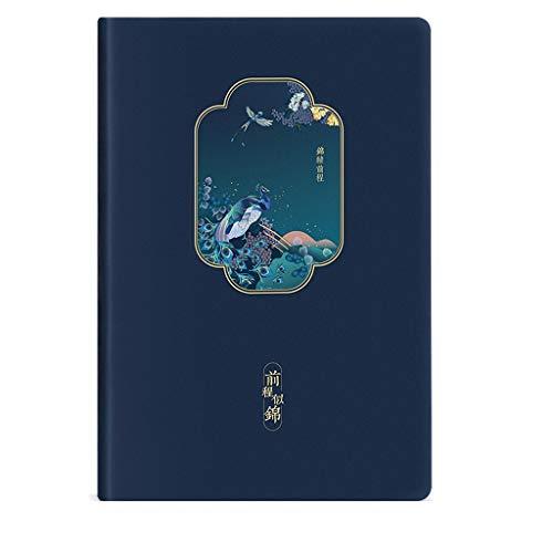 BBYTR taccuino del diario del taccuino punteggiato Manuale Notebook Retro Creativo di Stile Cinese Notepad Mini Pocket Piano Magazine Diario quaderno in Pelle a5 quaderni economici quaderno s