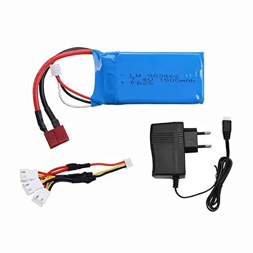 SHUGJAN Actualizar 7.4V 1500mAh 2S Lipo baterías for WLtoys A959-A969 B-B-A979 B K929B RC Desierto del coche camión de alta calidad cargador de piezas de repuesto Piezas de montaje RC (Color : 1pcs)