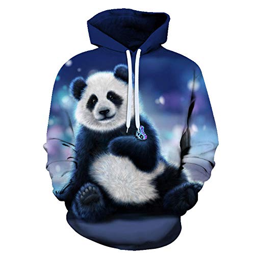 3D Panda Print Oversized Hoodies Women Men Animal Casual Long Sleeve Loose Sweatshirts Female Harajuku Street Sweatshirt Clothes-Picture_Color_Kid3