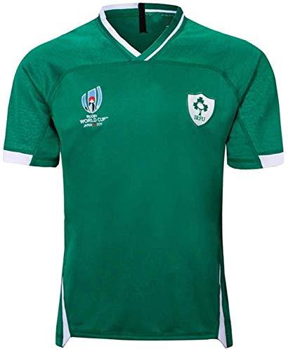 WXJWPZ EIN Heimspiel Für Männer Rugby-Fans Trikot Irland Rugby-Trikot,Weiß-XXL