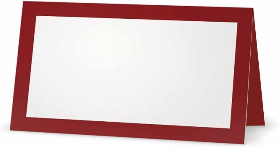Burgundy Place 全品送料無料 Cards - 購入 Flat or Whit Tent 10 Pack 50 Style