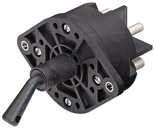 HELLA 6EK 002 843-161 Hauptschalter, Batterie - Drehbetätigung - 24V - geschraubt - Anschlussgewinde: 2x M10x1,5/2x M8x1,5 - Form: oval - Zwillingsschließer