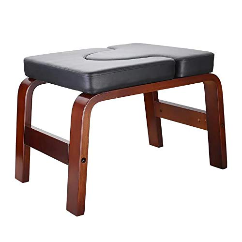 Best Deals! VBARV Yoga Inversion Chair,Stand Yoga Headstand Bench, with Wood Legs and Thick Sponge P...