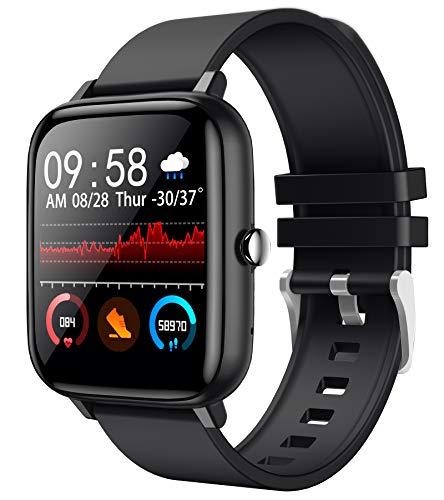 Reloj de pulsera deportivo para hombre y mujer, pulsómetro, monitor de presión arterial, podómetro, reloj inteligente Android, iOS, pulsómetro, frecuencia cardíaca, resistente al agua