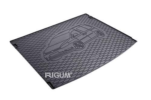 RIGUM Passgenaue Kofferraumwanne geeignet für VW Caddy 5-Sitzer ab 2005 + Autoschoner MONTEUR
