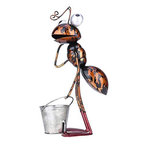 Ablerfly 3 Arten Optionale Metall Ameise Patio Dekor Skulptur, Indoor Outdoor Ameise Statue Ornament mit abnehmbarem Eimer -Verwendet als saftiger Blumentopf