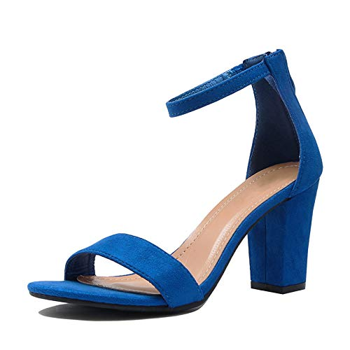 TOP Moda Women's Fashion Ankle Strap High Heel Sandal Shoes Tan 7.5