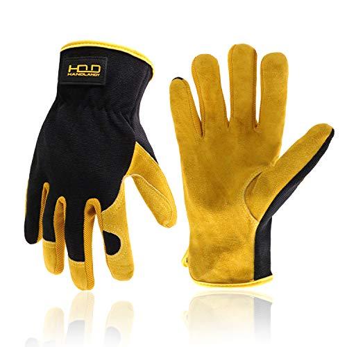 Men Leather Gardening Gloves
