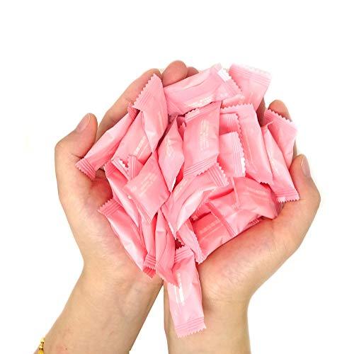 HONBAY 50 Pcs Magic Compressed Travel Towel Disposable Compressed Cotton Washcloth