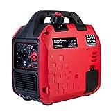 PowerSmart Generator, Super Quiet Generator, 2000 Watts Portable Inverter Generator, Gas Powered Generator, Fuel Shut Off, CARB Compliant Red/Black, PS5020