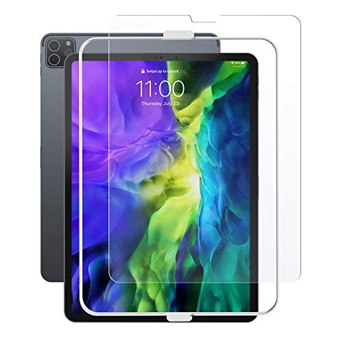 tomtoc Screen Protector for iPad Pro 11 inch 2020 & 2018, Tempered Glass Screen Protector with Alignment Frame, Ultra Sensitive, Face ID & iPad Pencil Compatible