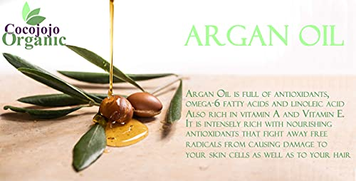 cocojojo 100% Pure Argan Oil Deodorized Refined Cold Pressed, 32 Fluid Ounce