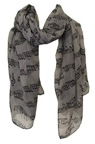 groß schal, grau mit schwarz musik merkt aufdruck Schal. Lovely warmer winterschal Fantastisch Geschenk