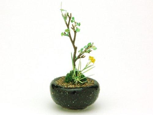 プラッツ THE BONSAI 1/12 丸鉢寄せ植え【黒】 完成品 BONN06