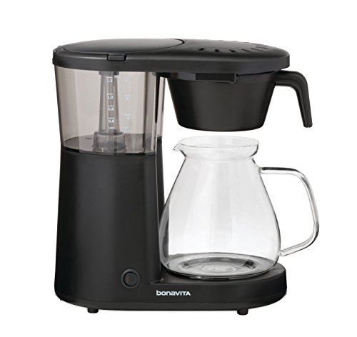Bonavita BV1901PW Metropolitan One-Touch Coffee Brewer, Length: 12.60' Width: 6.80' Height: 12.20', Black