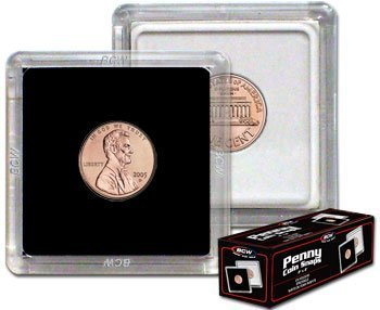 BCW 1 X 2×2 Coin Snap Holder Penny (19mm) Bundle of 25