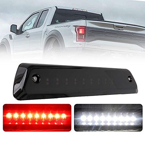 LED 3rd Third Brake Light Replacement for Ford F150 2009 2010 2011 2012 2013 2014 High Mount Stop Lamp Third Cargo Light Rear Tail Center High Brake Light Reverse Lamp Assembly Smoke Lens