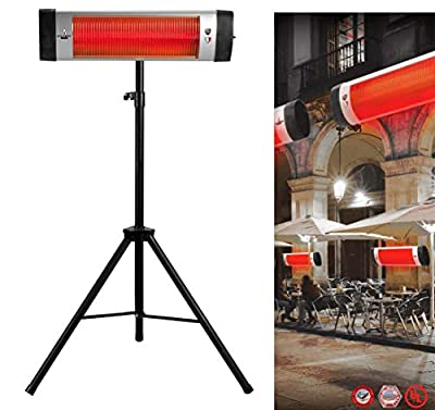 Lava Heat Infrared TORANO Italia Patio Standing Heater 1500W Electric 2550 BTU for Restaurants/Home/Indoor/Outdoor use with Stand Mount to Ceiling/Wall