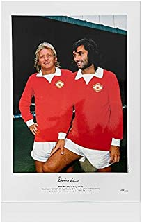Denis Law Signed Photo - With George Best Autograph - Autographed Soccer Photos