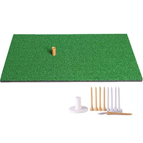 """Truedays Golf Mat 12""""x24"""" Residential Practice Hitting Mat Rubber Tee Holder"""