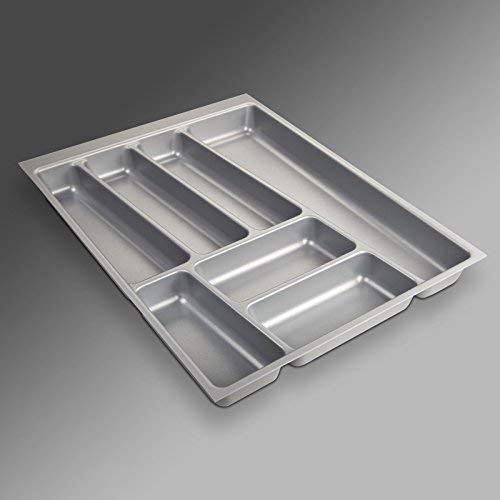 Sotech SO-Tech® Cubertero ORGA-Box® II para Cajón de Nobilia 45 cm (Cubertero: 462 x 355 mm) Color Gris Argentado