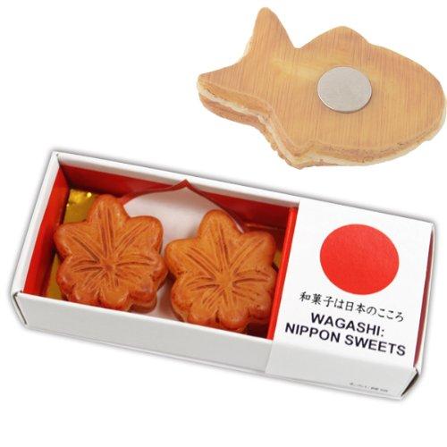 マグネット 雑貨 磁石 和菓子マグネット2個組 もみじ饅頭 MGW005497 ユニーク雑貨特集