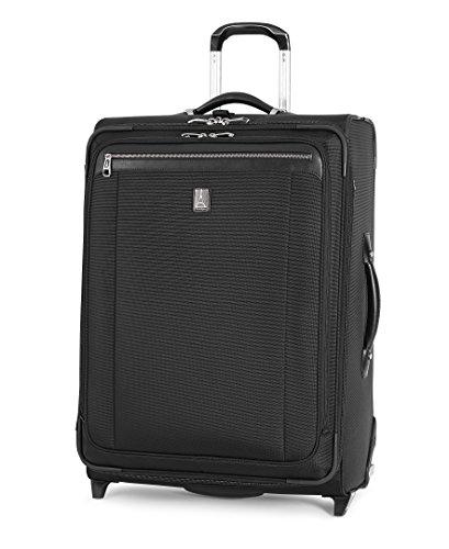 Travelpro Platinum Magna 2-Softside Expandable Upright Luggage, Black, Checked-Medium 26-Inch