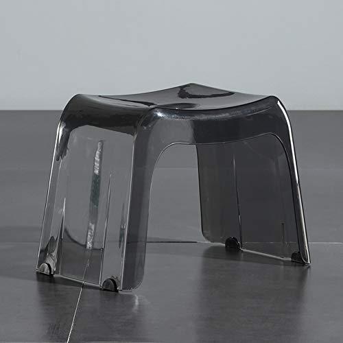 LoveGlass Transparente Acryl-dusche-Hocker,Verdicken Rückenfreie Hockerstuhl Für Badezimmer,Wasserfest Nicht-Slip Schritt Hocker Schuhwechselhocker