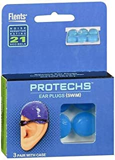 Flents Protechs Silicone Ear Plugs Swim - 3 Pair, Pack of 2
