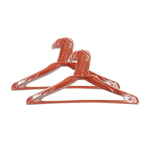 オリタニ 針金ハンガー φ2.7×40cm幅 50本セット (オレンジ) 省スペース 収納 洗濯 丈夫 シンプル 物干し
