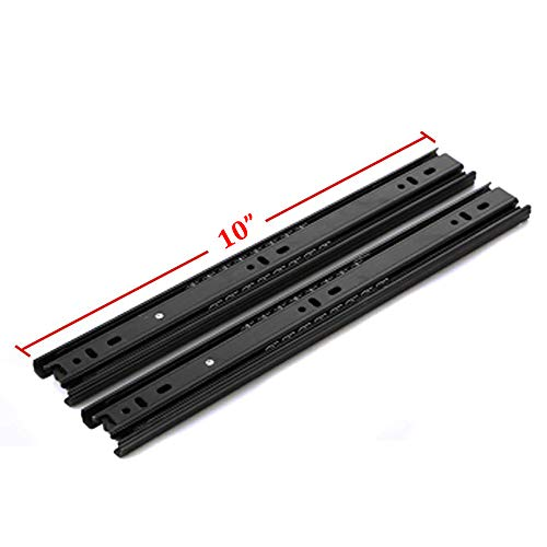 10 inch black drawer slides - 4