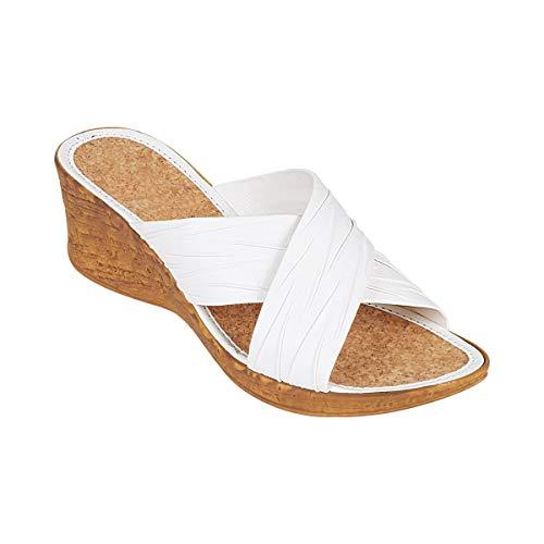 Unbekannt Damen Korkpantolette Sandalette mit Absatz Silvia