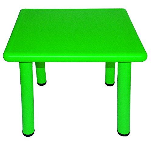alles-meine.de GmbH Kindertisch - GRÜN - für INNEN & AUßEN - Kindermöbel für Mädchen & Jungen - Tisch Tische / Kinderzimmer / Plastiktisch - Kinder - Gartenmöbel - Plastik / Kuns..