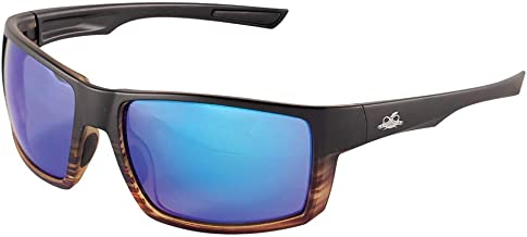 Bullhead Safety Eyewear BH2679PFT Sawfish, Tortoise Frame/Temple with Black Fade, Polarized Performance Anti-Fog Blue Mirror Lens, Black TPR Nose Piece and Temple Ends